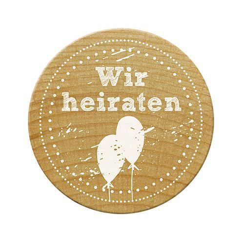 Woodies Stempel, Wir heiraten, ø¸ 30 mm