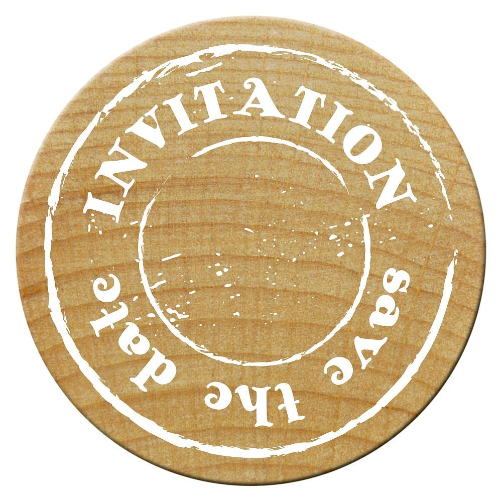 Woodies Stempel, INVITATION save the date, ø 30 mm