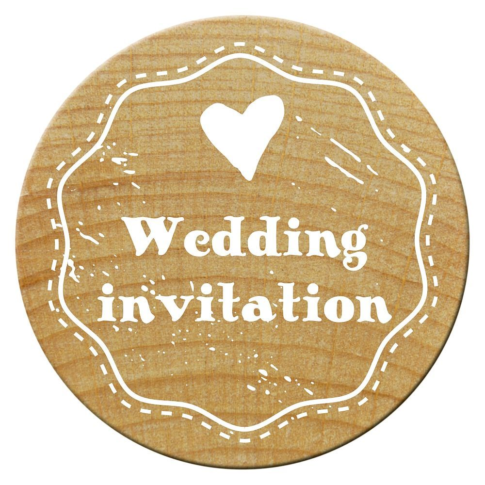 Woodies Stempel, Wedding invitation 1, ø 30 mm