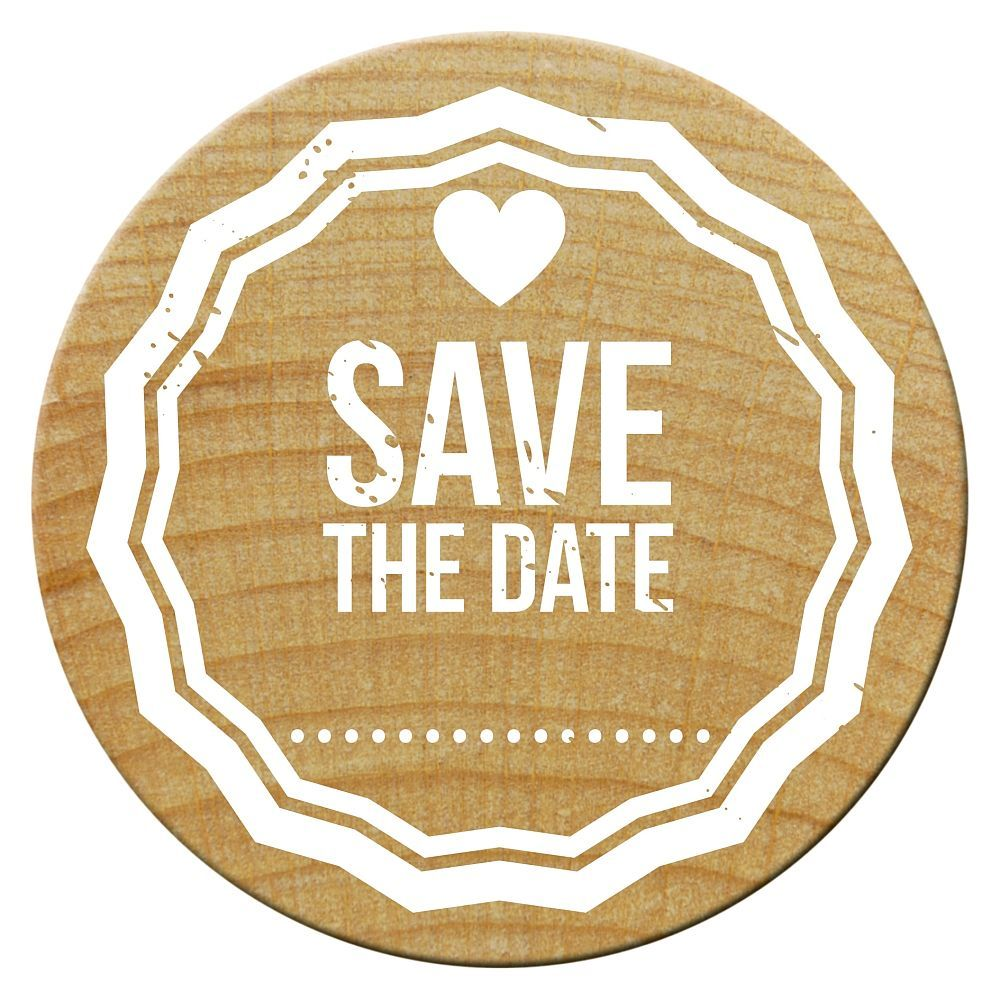 Woodies Stempel, Save the date 4, ø 30 mm