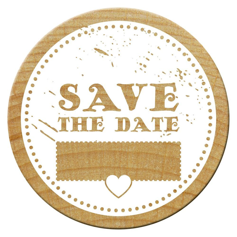 Woodies Stempel, Save the date 5, ø 30 mm