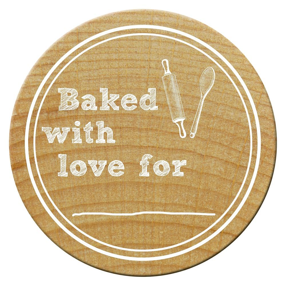 Woodies Stempel, Baked with love for, ø 30 mm