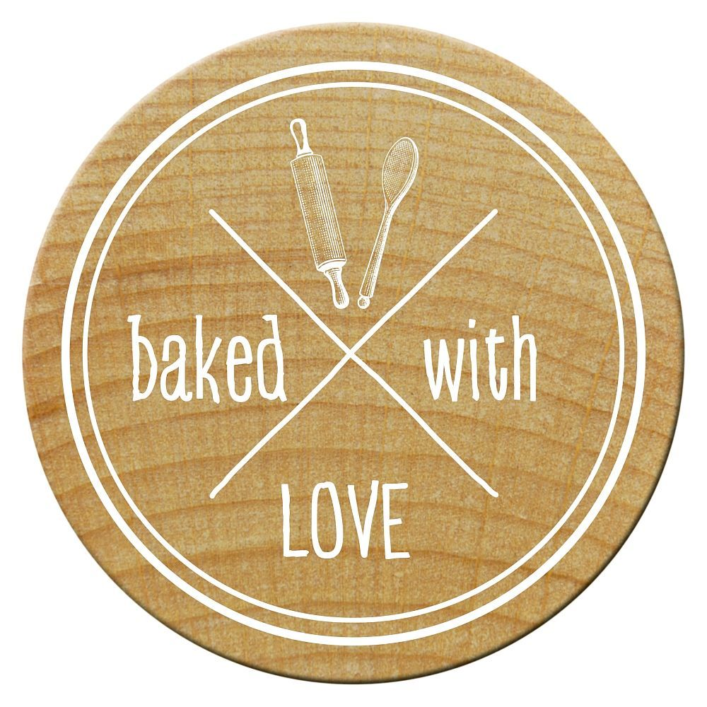 Woodies Stempel, baked with LOVE 1, ø 30 mm