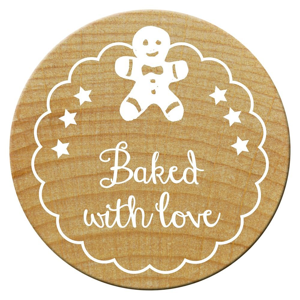 Woodies Stempel, Baked with love 2, ø 30 mm