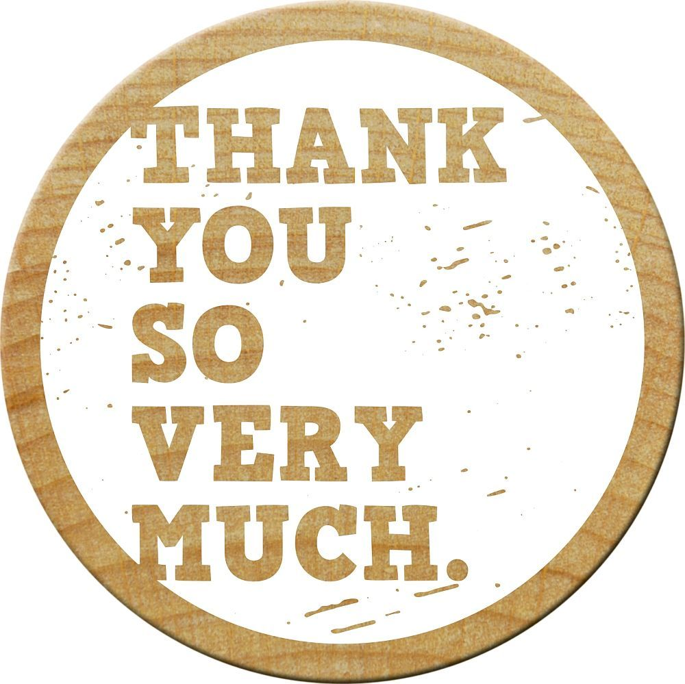 Woodies Stempel, Thank you so very much, ø 30 mm