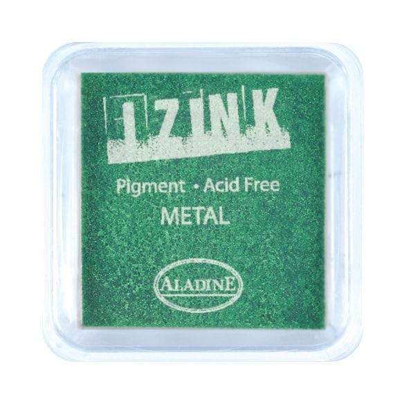 Aladine® IZINK Pigment Stempelkissen, Metal, light green