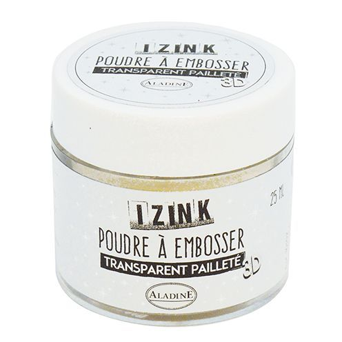 Aladine® IZINK Embossingpuder, mit Pailletten, 25 ml, transparent