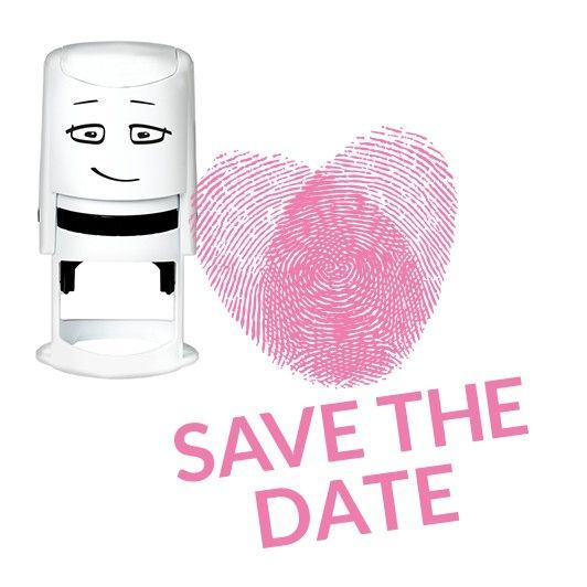 NIO Stempelmotive NI2008, SAVE THE DATE - forensic heart, ø 40 mm