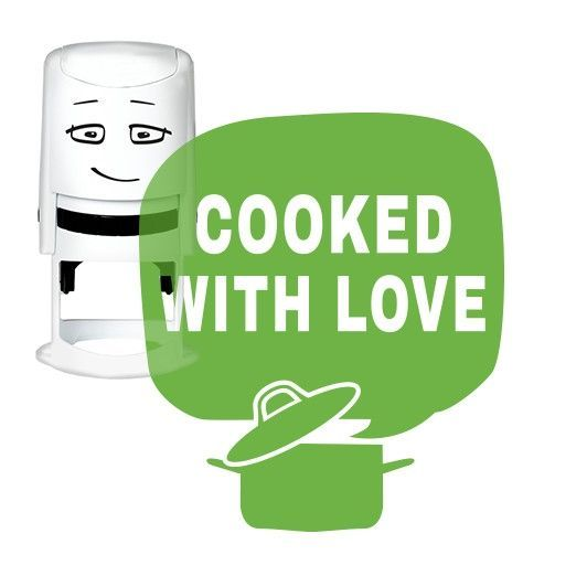 NIO Stempelmotive NI2025, COOKED WITH LOVE - cooking pot, ø 40 mm