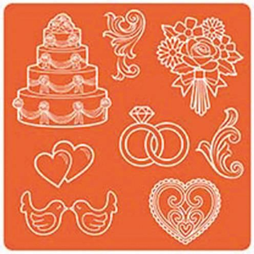 Mod Podge, Mod Mold Wedding, 95 x 95 mm 8 Designs