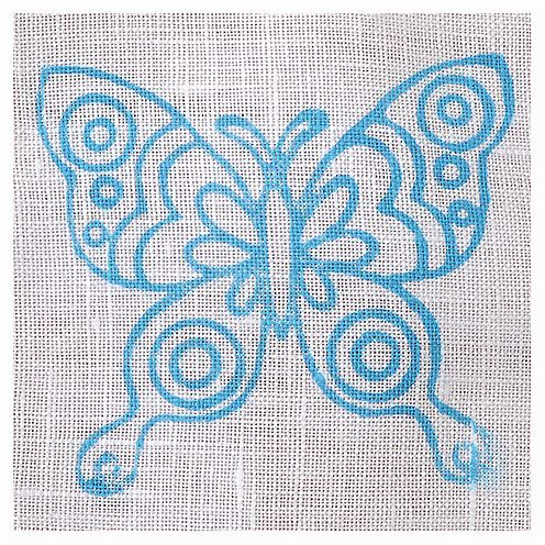 Fabric Creations™ Stempel, Medium Doodle Butterfly