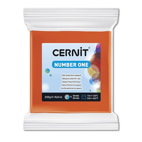 Cernit N°1, 90 x 80 x 27 mm, 250 g, orange