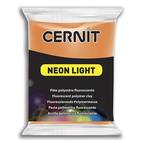 Cernit Neon, 63 x 55 x 15 mm, 56 g, orange
