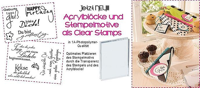 *NEU* Clear Stamps / Polymer Stempel
