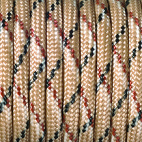 Paracord, Farbmix, 4 mm x 50 m, beige