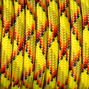Paracord, Farbmix, 4 mm x 50 m, gelb