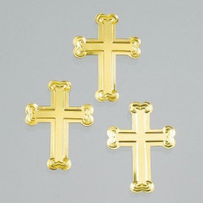 Pailletten, Kreuz, 25 mm, 20 g, gold