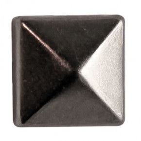 Fashion Nieten, Quadrat, 6 x 6 mm, 60 Stk., schwarz