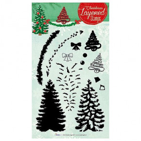 Stempel Clear, LS 2D Merry Christmas, A5 / 148 x 210 mm, 13 - teilig, transparent
