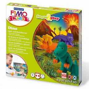 Fimo® Kids form & play, Dino, 7 - teilig,