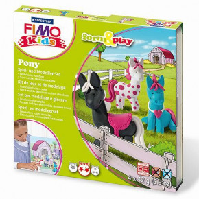 Fimo® Kids form & play, Pony, 7 - teilig,