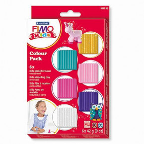 Fimo® Kids, Colour Pack - Girlie, 6 x 42 g, sortiert