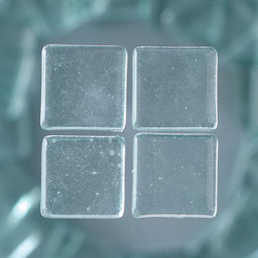 MosaixSoft-Glassteine, 15 x 15 mm, 200 g ~ 95 Stück transparent