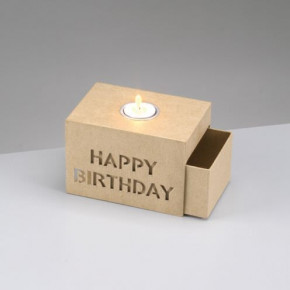 Schiebebox, Happy Birthday, 15 x 10.5 x 10 cm.
