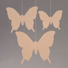 Papp Art 2D-Element, Schmetterling, 10 - 16 cm, 3 Stk.,