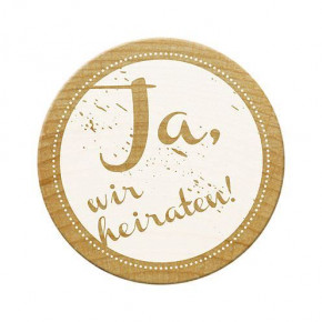 Woodies Stempel, Ja, wir heiraten!, ø¸ 30 mm,