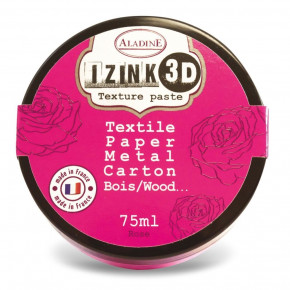 Aladine® IZINK 3D Textur, Paste Classic, 75 ml, rose