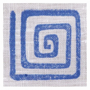 Fabric Creations™ Stempel, Small Square Spiral, ~ 3,8 x 3,8 cm,