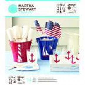 Martha Stewart Medium Stencil Portfolios, Nautical Study, 22 x 24 cm, 2 Stück